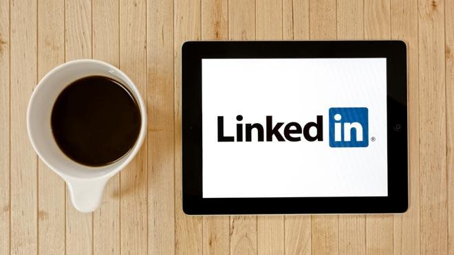 LinkedIn на планшете