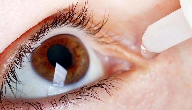 устранение сухости глаза