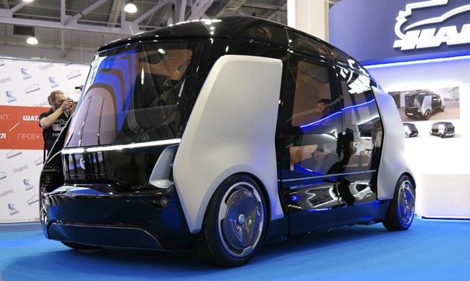 российский беспилотный автобус Шатл