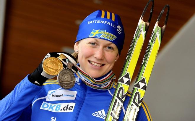 биатлонистка Хелена Юнссон