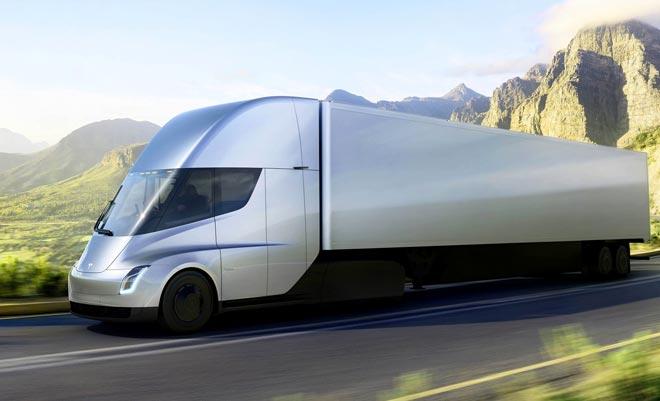 Беспилотные грузовые электромобили Semi