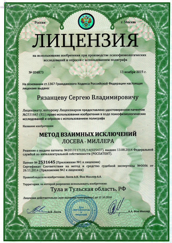 Интеллектуальная собственность лицензия